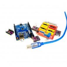 Комплект Ардуино Уно, ЧПУ Шилд 3 и DRV8825 компоненты