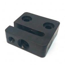 Ходовая гайка квадратная для трапецеидального винта безлюфтовая спереди