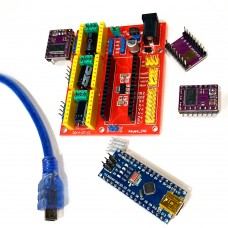 Комплект Arduino Nano3&CNC Shield4&DRV8825 компоненты