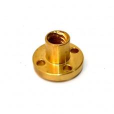 Ходовая гайка цилиндрическая бронзовая для трапецеидального винта сверху